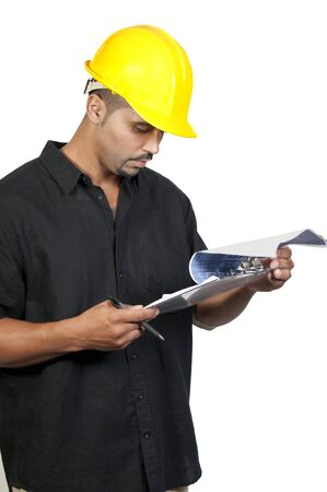 A male construction worker a job site. Stock Photo - 7832108