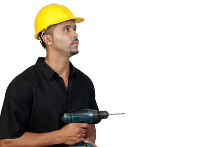 A male construction worker a job site. Stock Photo - 7803871