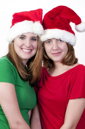 Young teenage sisters and the best of friends photo
