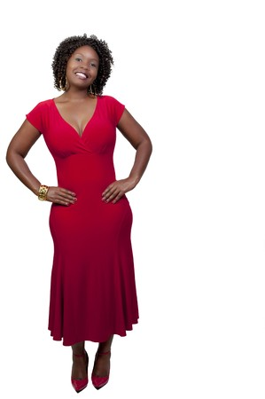 A very beautiful African American woman with a big smile Stock Photo - 8046465