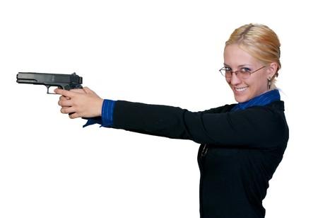 mujer policia: Una mujer polic�a hermoso en el trabajo