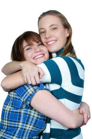 友人の最高の美しい若い女性のカップル
