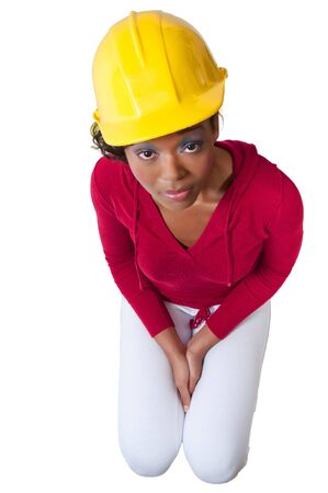 A Female Construction Worker on a job site. Stock Photo - 8306341