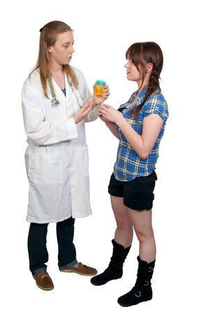 pis: Una hermosa joven doctora en sus rondas