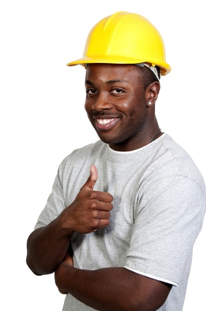 A black man African American Construction Worker on a job site. Stock Photo - 8672898
