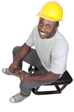 A black man African American Construction Worker on a job site. Stock Photo - 8672884