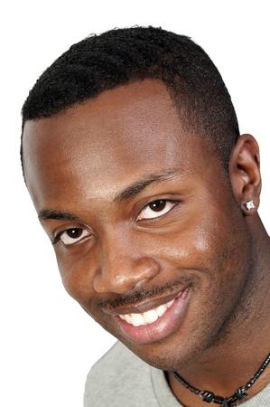 매력적인 잘 생긴 흑인 흑인 남자
