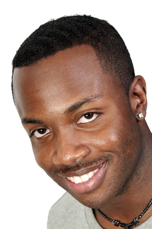 An attractive handsome African American black man  photo