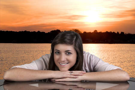 A young Beautiful Woman with a lovely smile Stock Photo - 8890931