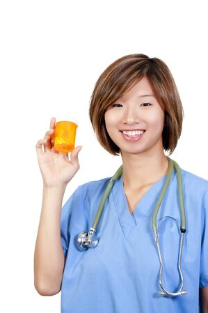 A beautiful young female doctor on her rounds Stock Photo - 9586779