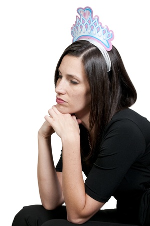 A beautiful young woman suffering from the mental illness of depression Stock Photo - 9578563