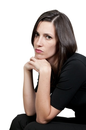 A beautiful young woman suffering from the mental illness of depression Stock Photo - 9586000