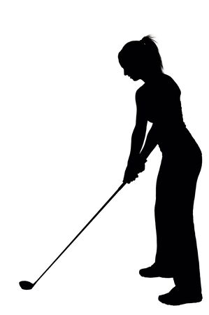 fashon: A very beautiful and young woman golfer