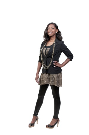 A very beautiful African American black woman teenager Stock Photo - 9582935
