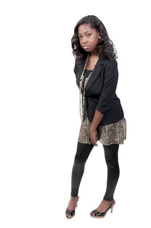 A very beautiful African American black woman teenager Stock Photo - 9582962