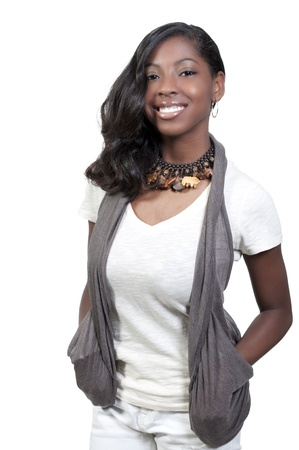A very beautiful African American black woman teenager  photo