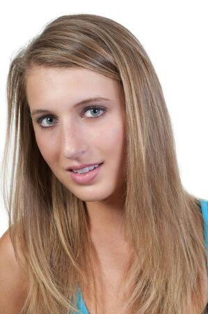 hot chick: A beautiful young woman with a beautiful smile