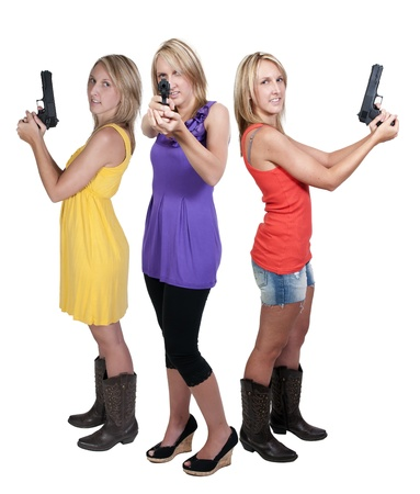 narc: A beautiful police woman on the job Stock Photo