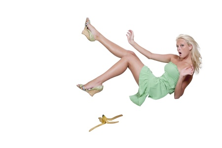 A person about to do the classic slip on a banana peel Stock Photo - 10196358