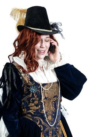 A woman dressed as a renaissance aristocrat in authentic dress photo