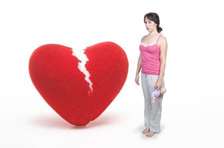 A closeup image of a broken heart.  photo