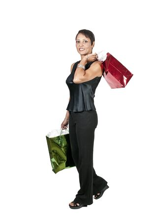 A beautiful woman on a shopping spree Stock Photo - 10857504