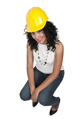 Black woman African American constuction worker Stock Photo - 10857518