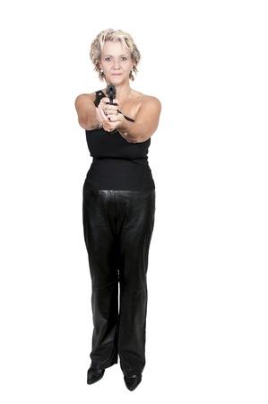 A beautiful police woman on the job Stok Fotoğraf