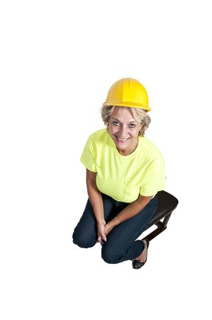A Female Construction Worker on a job site. Stock Photo - 11171537