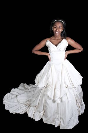 Black African American Woman Bride in a wedding dress