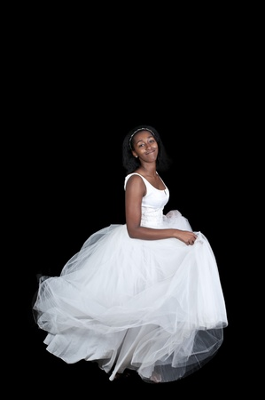 Black African American Woman Bride in a wedding dress photo