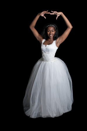 Black African American Woman Bride in a wedding dress Stock Photo - 12100866
