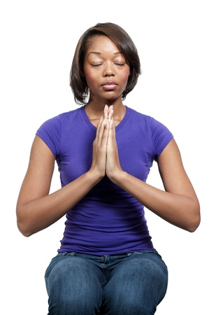 Beautiful Christian woman in deep prayer Stock Photo - 12101380