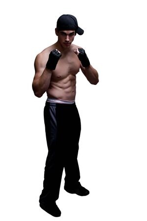 Beautiful atteactive young fit muscular man standing