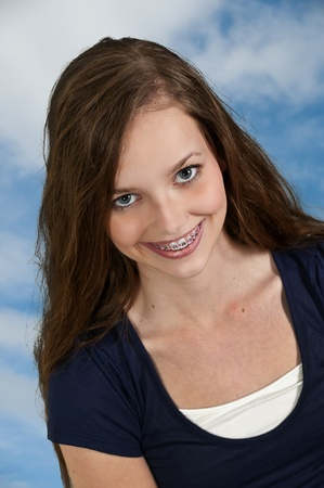 A young Beautiful Woman with a lovely smile Stock Photo - 12551574