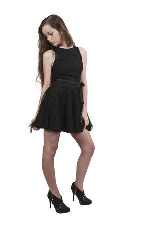 teenaged: A young Beautiful Woman teenager girl posing