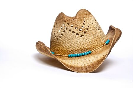 cowboy hat: Fashionable cowboy hat designed for a woman