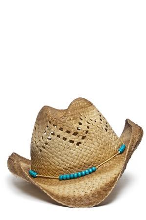 chapeau de paille: Chapeau de cowboy � la mode con�u pour une femme