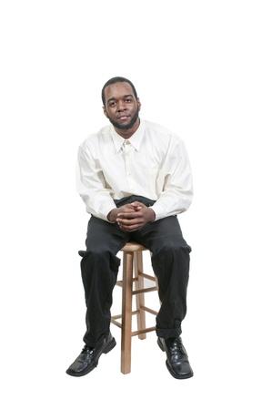escabeau: Une belle belle africaine homme noir am�ricain Banque d'images