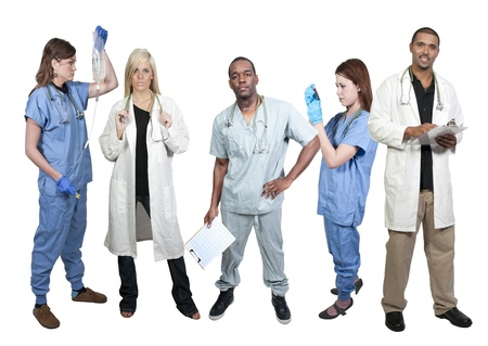 phlebotomist: Group of medical doctors with various specialties