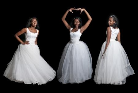 Black African American Woman Bride in a wedding dress photo