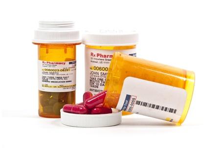 Bottle of prescription medicine pills for a medical patient Stock Photo - 14878400