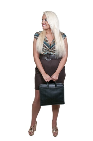 A beautiful young upwardly mobile business woman Stock Photo - 14878431