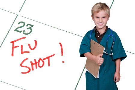 A calendar reminder for a Flu Shot