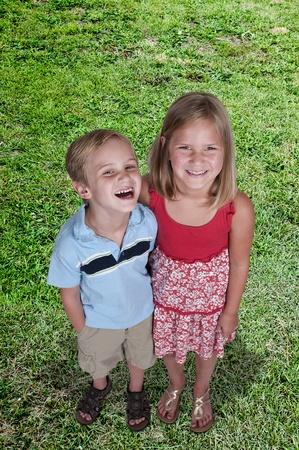 bff: Little boy and little girl best friends