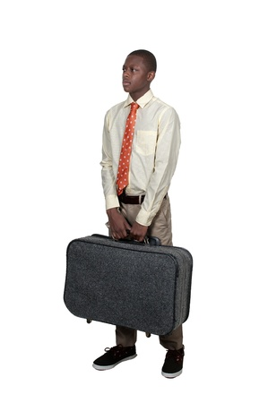 Young black African American teenage boy going on vacation Stock Photo - 15113276