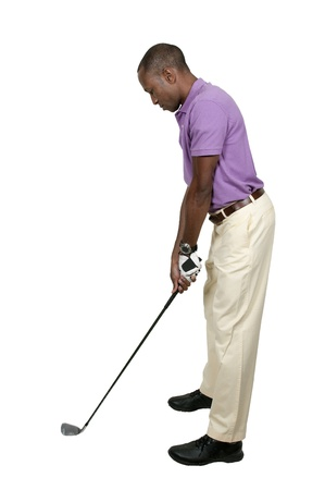 Handsome man playing a round of the sport known as golf Stock Photo - 15646619