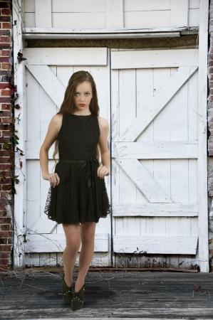 A young Beautiful Woman teenager girl posing