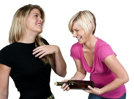 tipsy: Beautiful young Women with lovely smiles laughing