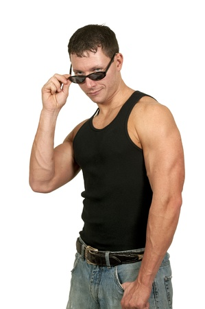 Man wearing a pair of sun glasses Stock Photo - 16707475